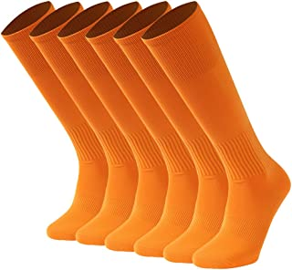 Hissox Unisex Solid Knee High Compression Soccer Socks 2-10 Pairs