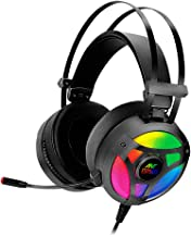 Ant Esports H909 HD RGB LED Gaming Headset for PC / PS4 / Xbox One/Nintendo Switch, Mac, Noise Cancelling Over-Ear Headphones with Mic.