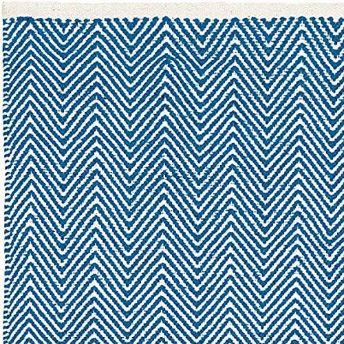 Liv Teppich | Baumwolle | Zickzack Denim 140 cm x 200 cm