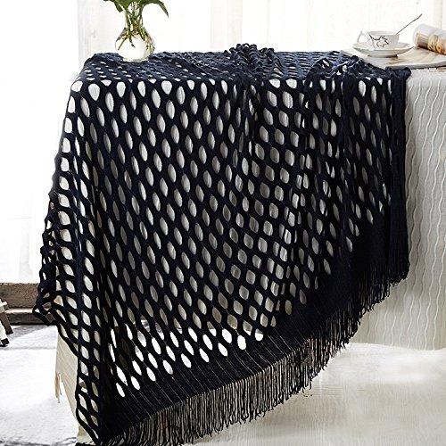 Global- 127 * 152cm style Grille Personne seule loisirs couverture Climatisation couverture siesta couverture bureau loisirs couverture acrylique fibre feuilles couverture de lit