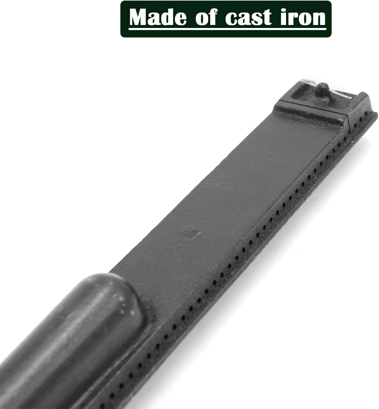 VICOOL Cast Iron Burner Pipe Tube Gas Grill Replacement Parts for Jennair 720-0061 Nexgrill 720-0671 Charbroil Lowes Model Grills 720-0062 720-0063 hyB630 720-0165 4-Pack 15 13//16 Inch