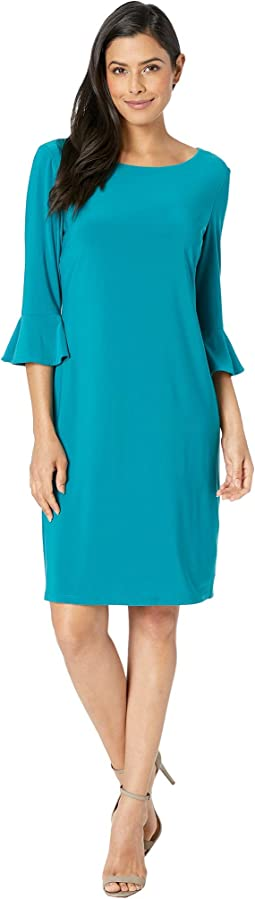 Ity 3/4 Ruffle Sleeve Sheath Dress