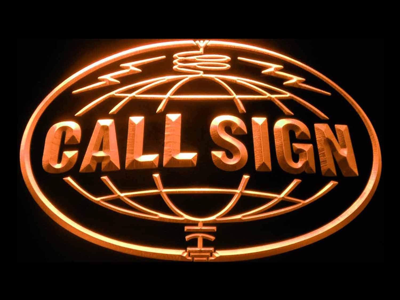 ADVPRO Custom Call Sign World Amateur On Air Max 54% OFF Neon Ora Radio Direct store