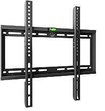 Famgizmo Support TV Mural Ultra-Mince Type Fixe pour téléviseur de 23-55 Pouces (58-140cm), Vesa 100x100-400x400mm, Suppor...