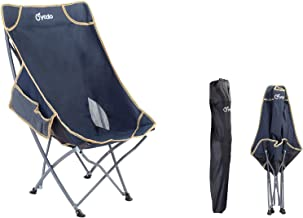 Wisfor Foldable Camping Chair, Ultralight Folding Chair folding trip chair Backpack Chair with Carry Bag and Side Pockets ...