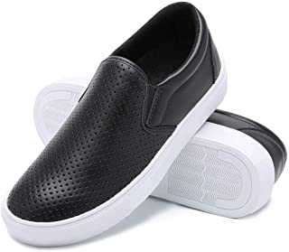 Slip on Sneakers for Women Fashion Loafers Perforated Flats Sports Cushioned Insole Comfortable Walking Casual Shoes