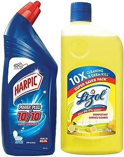 Harpic Powerplus Original, 1000 ml + Lizol Disinfectant floor cleaner Citrus, 975 ml