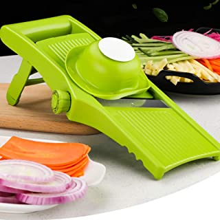 XUEBI Multifunction Vegetable Slicer Food Chopper One-Piece Blades Grater Slicing Chopping Chef Kitchen Tool Suitable for Onion Cheese Fruit