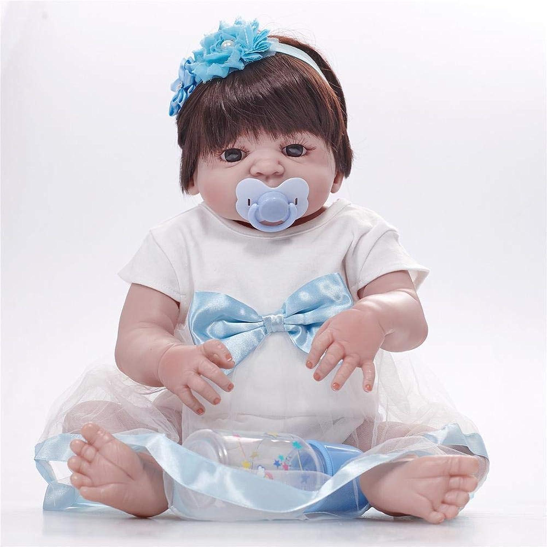 venta de ofertas Hongge Reborn Baby Doll,Realista de Silicona Reborn muñeca muñeca muñeca Realista bebé Reborn muñeca Mejor 58cm  mejor moda