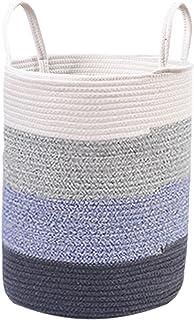 Supplément Corde de Coton Corde de Coton Panier de blanchisserie tissé Pliable avec poignées pour la buanderie,pépinière, ...
