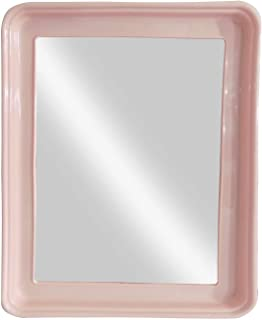Baal Square Shape Mirror for Home Décor and Parlor Use 20 Gram Pack of 1 (Baby Pink)