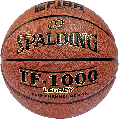 Spalding Unisex-Adult Ball Tf1000 Legacy 74-451z Mit FIBA Basketball, orange, 6