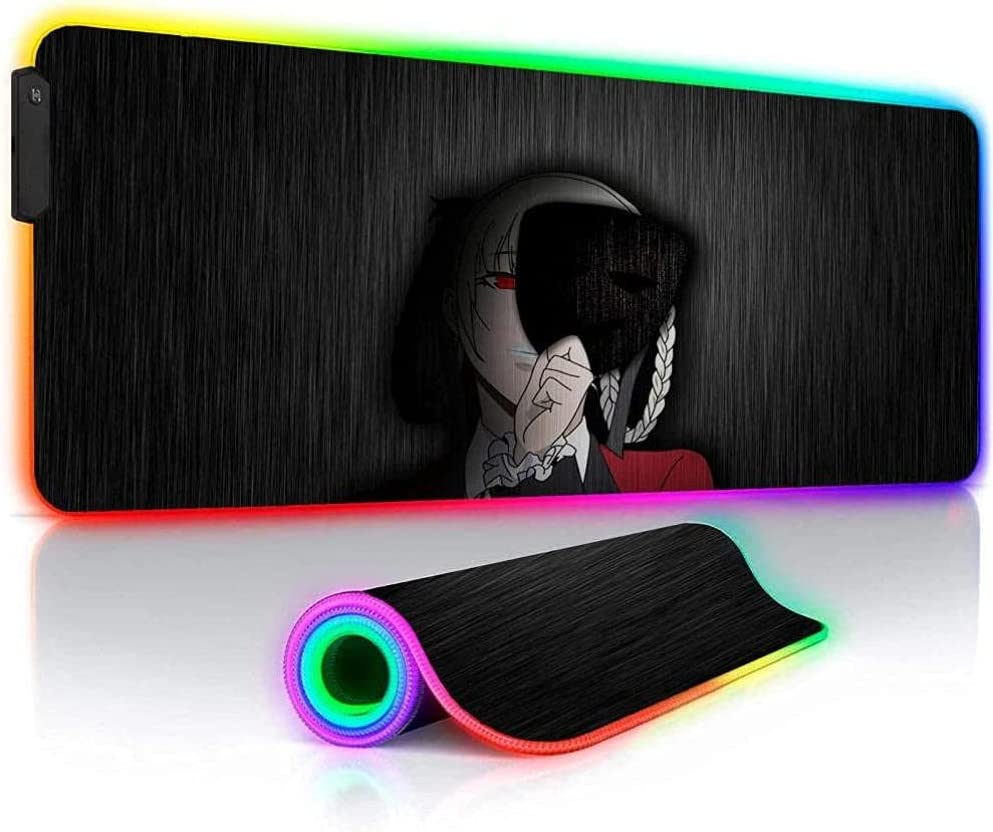 Anime Girls XXL Large Gaming RGB Mouse Locking Free New Shipping Free Shipping Shipping New LED Edge Glo Pads