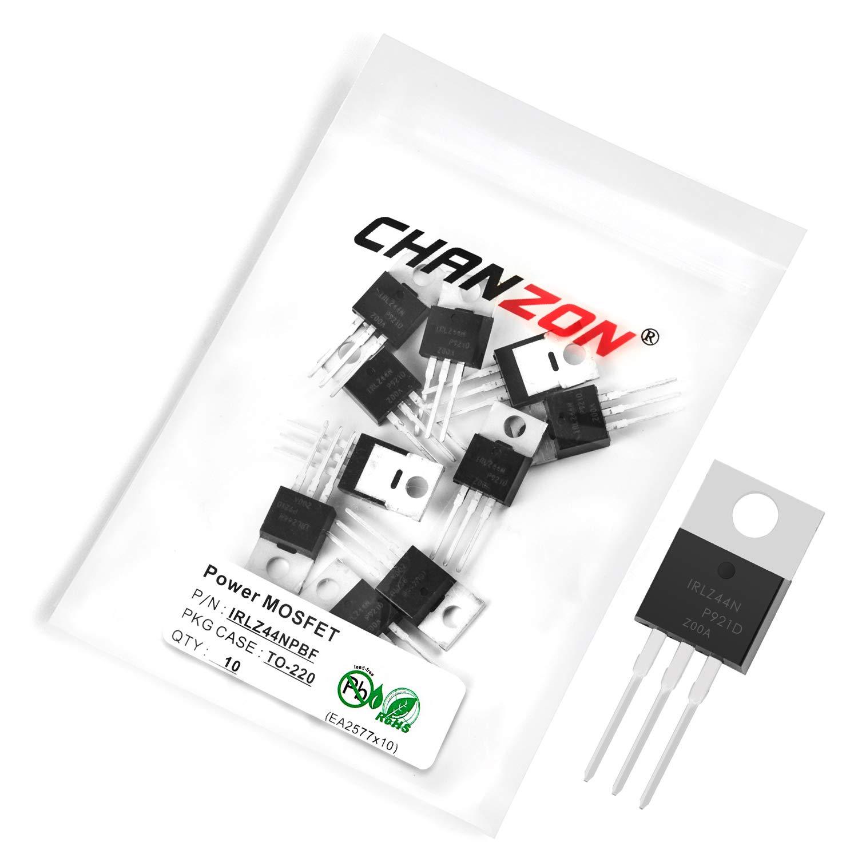 Chanzon 10pcs IRLZ44NPBF Popular brand TO-220 Power 47A Rare MOSFET Transistor Sic