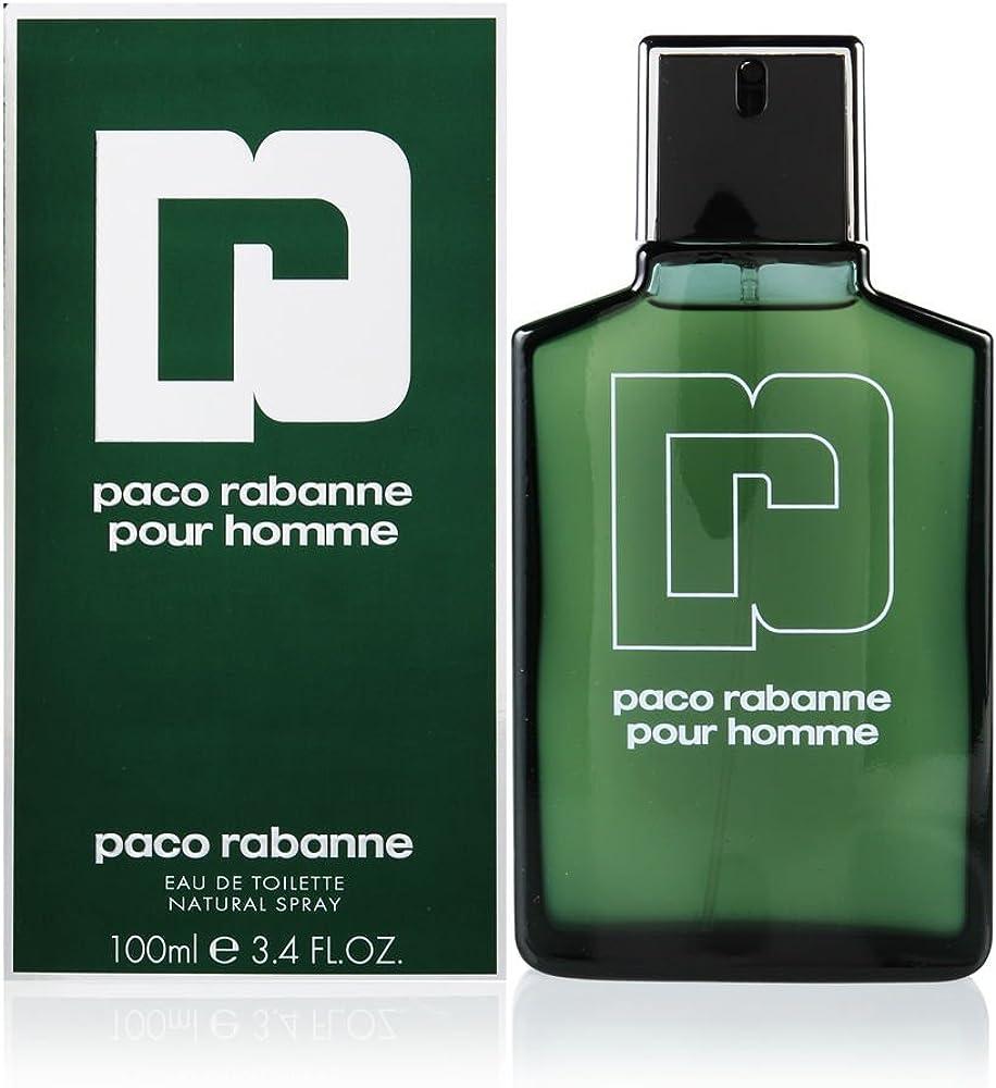 Paco rabanne pour homme, eau de toilette per uomo,spray, 100 ml 3349668021345