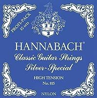 Hannabach 652780シリーズ815プロフェッショナルパックカーボン高音ミディアムテンションシルバースペシャルギター用