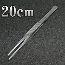 300mm Stainless Steel Kitchen Seafood & bar Tweezer Food Tongs Tool Bar Accessories : 20cm Silver