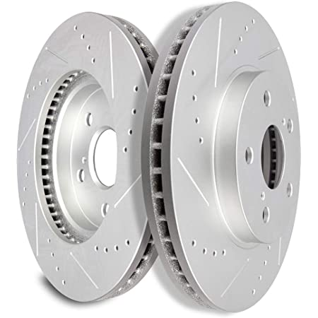 Fit Lexus//Toyota 2pcs Front Left+Right Drilled Slotted Vented Disc Brake Rotors