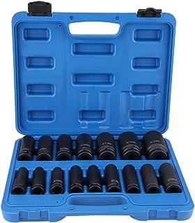 Clouking steeksleutelset, 6-kant, 1/2 inch, 16 stuks, zeskant-dopsleutels, voor training met drukdruk, 10 mm-32 mm