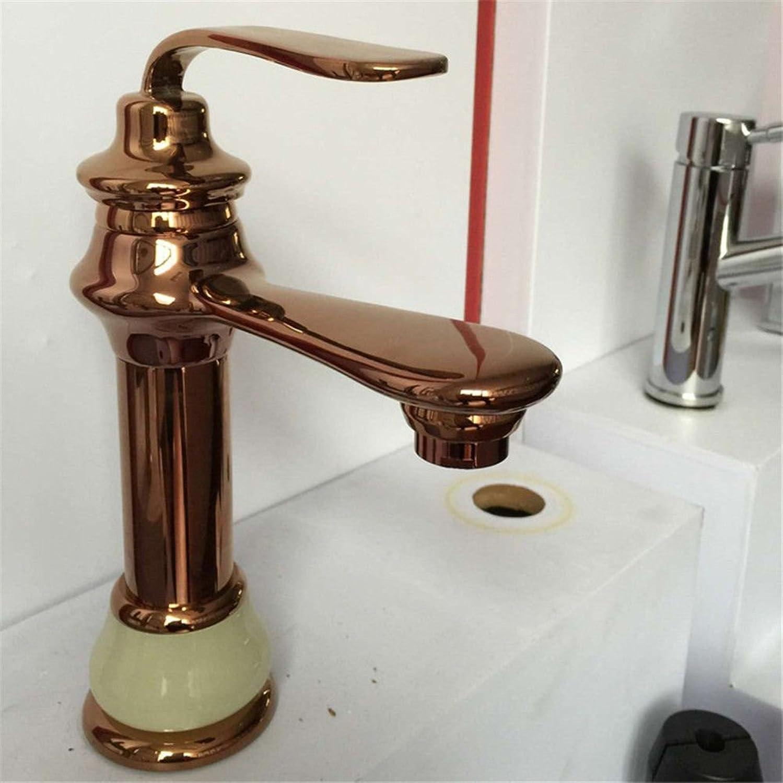 AQMMi Basin Sink Mixer Tap for Lavatory Jade pink gold Bathroom Vanity Sink Faucet