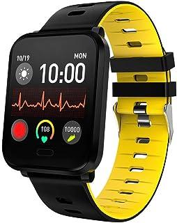 DSN Pulsera Actividad Inteligente Hombre Bici, Smart Watch, Pulsómetro Monitor Presión Arterial Calorías Sueño Impermeable IP68 Android y iOS