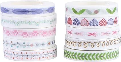Hemobllo 10Pcs Washi Tape Paper Masking Tape DIY Craft Tape Stickers Kids Envelope Seals Journal Decorations Birthday Part...