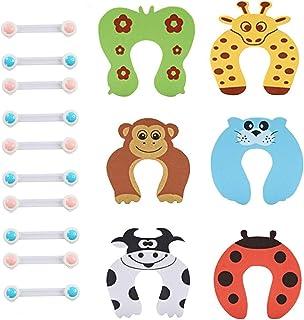 Mumoo Bear Baby Safety Locks Kit 16pcs Child Proofing Cabinet Lock Child Protection Baby safety Door Stopper, Multi Color