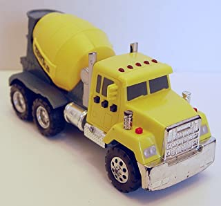 Tonka Yellow Cement Mixer Truck Plastic Multi Sounds 6.5 Inches Long