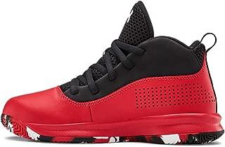 Under Armour Unisex-Kid's Pre School Lockdown 4 Basketball Shoe, Red (601)/Black, 6