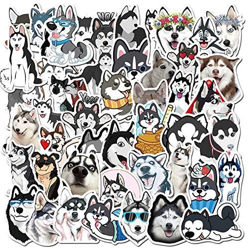BLOUR 50 unids/Pack Nuevo Impermeable de Dibujos Animados Lindo Husky Corgi Mascota Perro Pegatinas monopatín Guitarra Equipaje portátil teléfono Pegatinas Juguete clásico