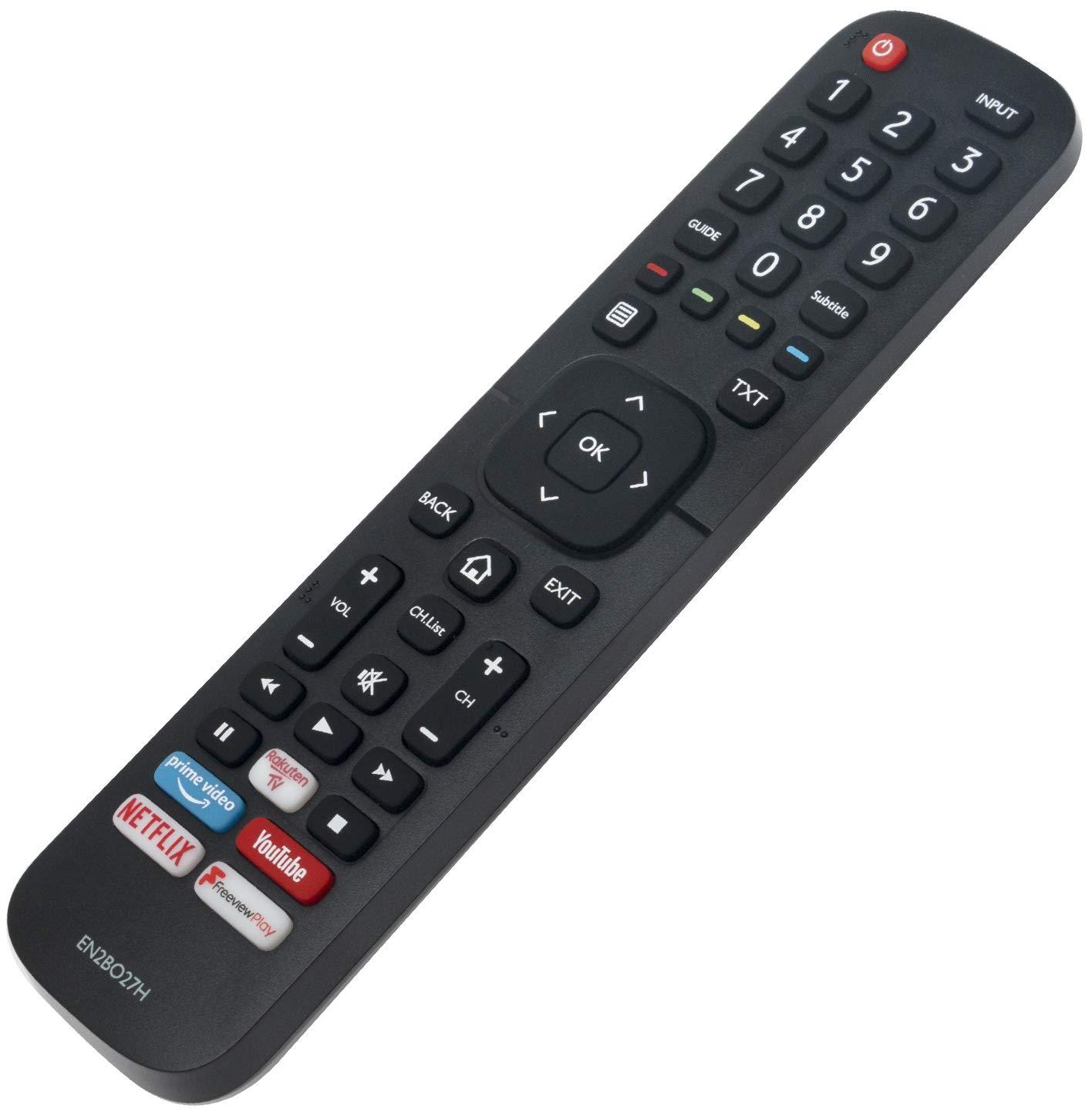 ALLIMITY EN2BO27H Mando a Distancia reemplazado por Hisense UHD 4K TV with Netflix F-Play RauktenTV Button H50B7510 H55B7100 H55B7300 H55B7500 H55B7510 H65B7100 H65B7300 H65B7500 H65B7510: Amazon.es: Electrónica