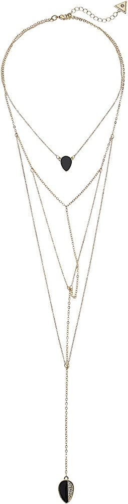 GUESS Dainty Multi Chain Look Y Necklace