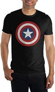 Comics Captain America Logo Men's Blue T-Shirt Tee Shirt