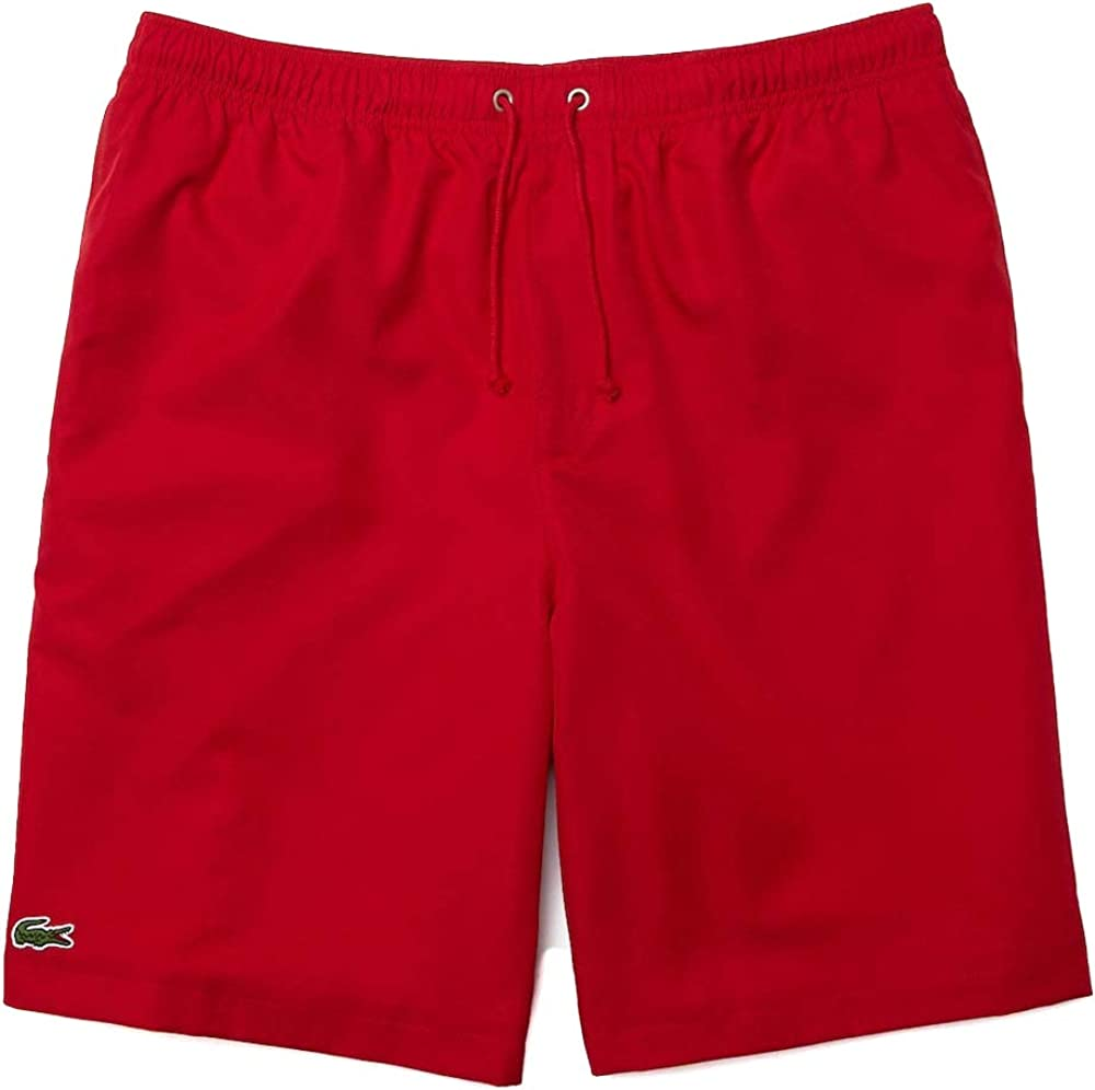 Lacoste, pantaloncini a costume da bagno per uomo, 100% poliestere, ad asciugatura rapida GH353T