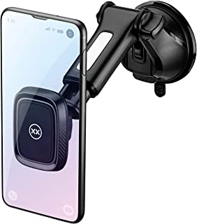 Mixx KFZ | Magnet Lang Arm (bis 16,5cm) Windschutzscheibe Halterung für Handys–Schwarz