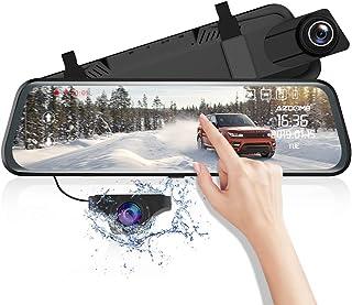 Cámara de Coche 10 Mirror Dash CAM Espejo Retrovisor Pantalla táctil AZDOME 170 °1080P Front y 150 °720P Camara Trasera Visión Nocturna [ADAS] [Transmisión de Video] Modo de estacionamient