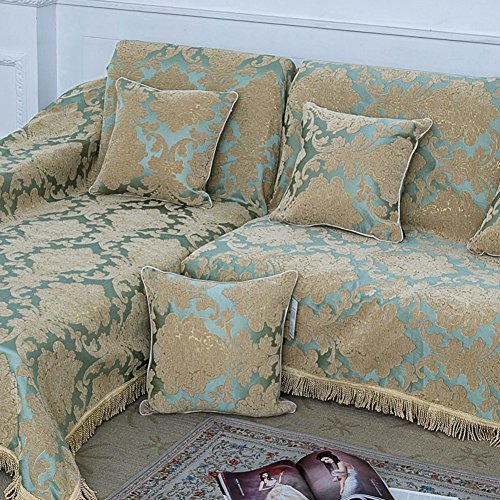 GIEODKWKM Tissu Housse canapé,Européen Minimaliste Moderne Anti-dérapant Imprimé Floral Housse canapé-A canapé