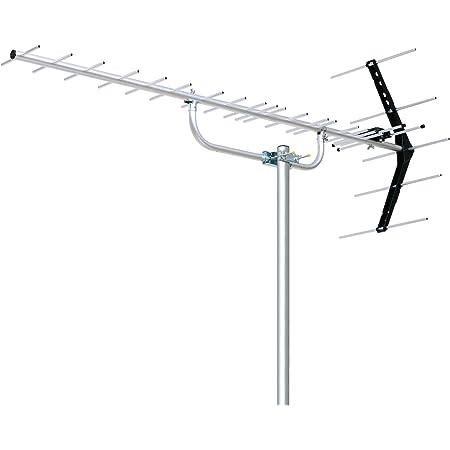 DXアンテナ 地上デジタルアンテナ 八木式 UHF (20素子相当) 中・弱電界用 オールチャンネル対応 UA20