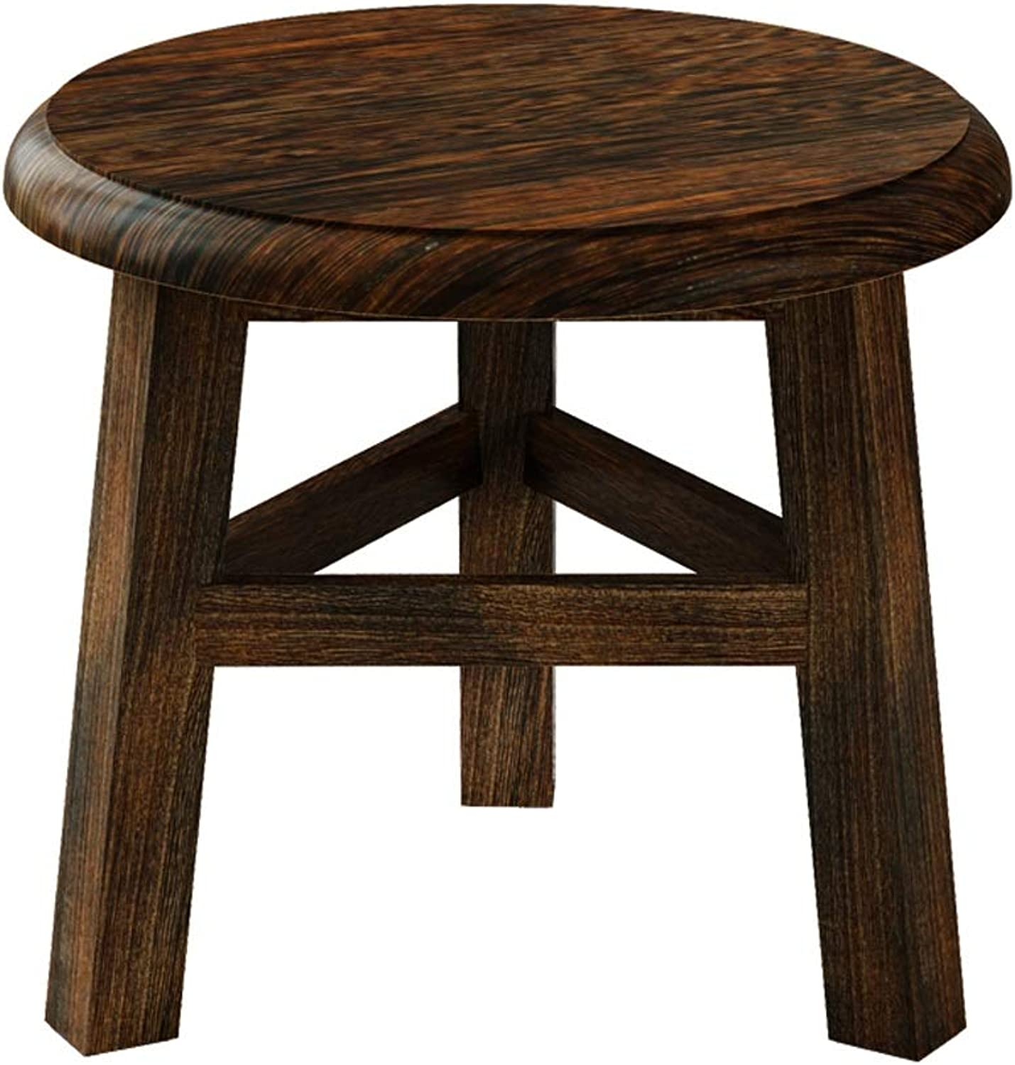 Small Stool Home Creative Sofa Stool Coffee Table Stool Modern Decoration Solid Wood Small Stool Change shoes Stool Adult Bench (color   Brown)
