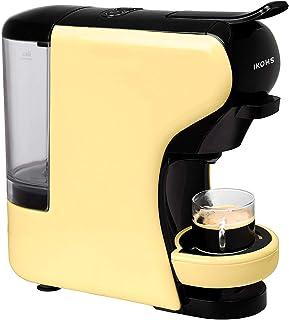 IKOHS Máquina de Café Espresso Italiano - Cafetera Multi Cápsulas Compatible Nespresso 3 en 1, 19 Bares con 2 Programas de Café, deposito extraíble, 0,7 L, Compacto, 1450 W, automático Beige