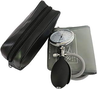 Puño de presión arterial manual, puño de tubo individual con manómetro de presión y foco de inflado gris