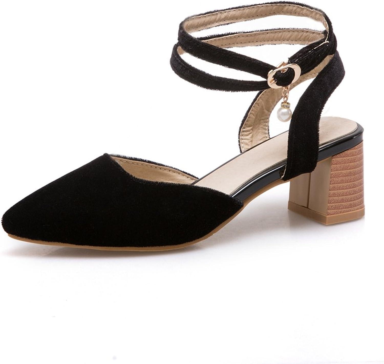 GIY Women's Strappy High Heel Sandals Close Toe -Wedding, Party, Chunky Block Heel Pump Dress Sandals
