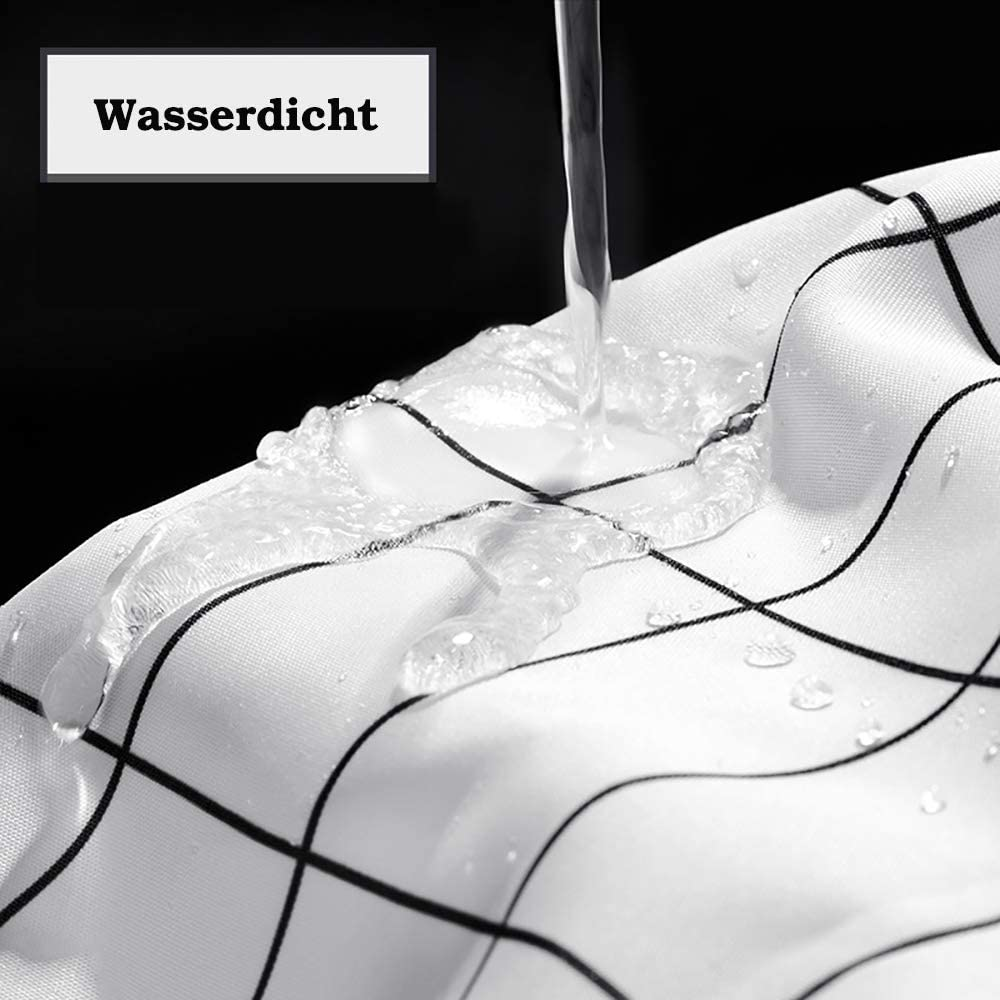 Sissiana Duschvorhang Textil Anti-Schimmel mit Gewicht Wasserdicht Antibakteriell Wasserabweisend Stoff Polyester Waschbar f/ür Dusche und Badewanne inkl Grau, 180 x 200 cm 12 Duschvorhangringen