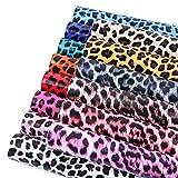 Piel de leopardo de imitación de cuero, láminas de tejido 14 colores para la fabricación de la...