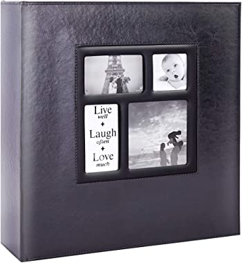 Lanpn Photo Album 4x6 1000 Photos, Extra Large Capacity Leather Cover Picture Photo Albums Holds 1000 Pockets Horizontal and