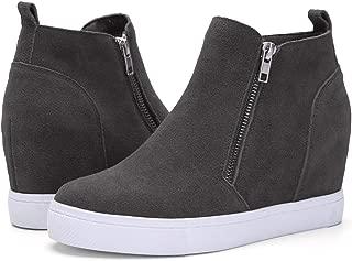 Women's Platform Wedge Sneakers Wedge Booties Ankle Heels