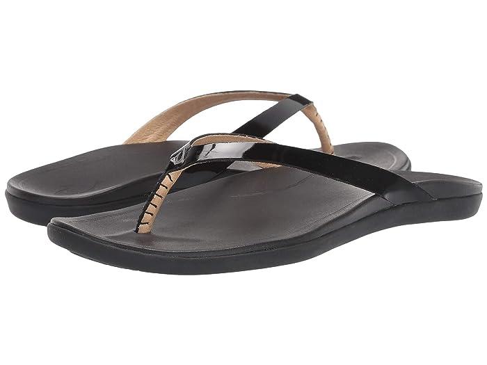 Ho'opio Leather  Shoes (Black/Black) Women's Sandals
