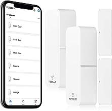 Smart Door Sensor 2 Pack، TESSAN WiFi Window Contact سنسور کار با Amazon Alexa ، Google Assistant ، بدون هاب مورد نیاز ، اعلان تلفن راه انداز ، زنگ هشدار بی سیم ، قابل برنامه ریزی با دستگاه های زندگی هوشمند
