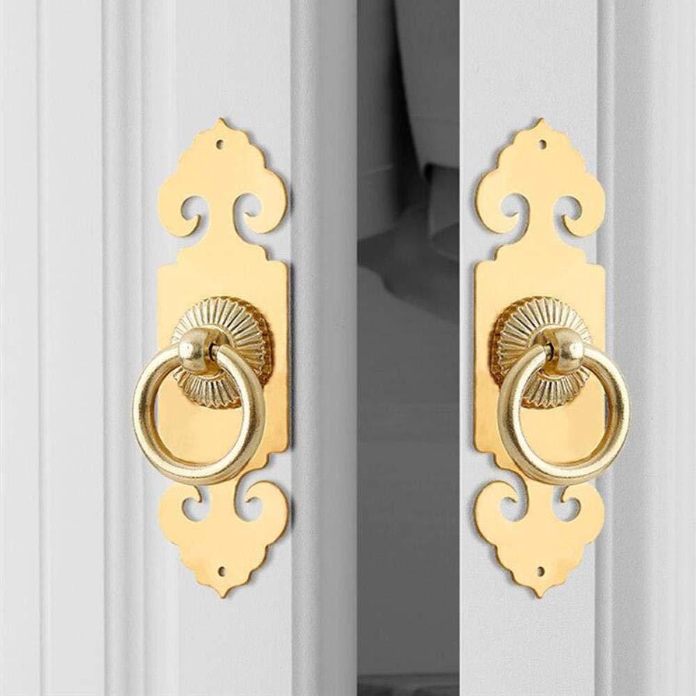 Manija de puerta corredera de estilo chino vintage tirador de ...