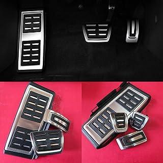 Kit COPRIPEDALI Copri Pedali PEDALIERA SPECIFICO per Seat Leon 5F in Alluminio Antiscivolo Stile FR ACCELLERATORE Freno POGGIAPIEDE per Cambio Automatico DSG